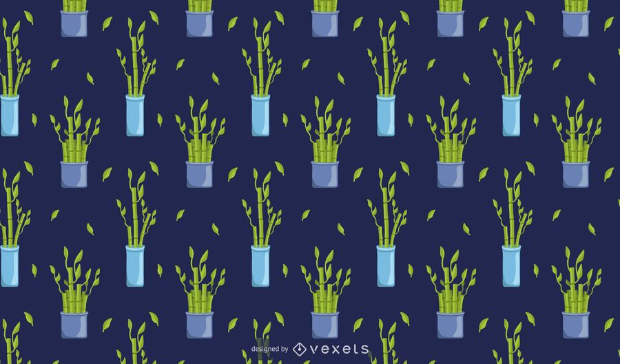 Bamboo lucky plant pattern design