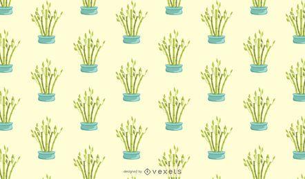 Diseño de patrón de bambú afortunado
