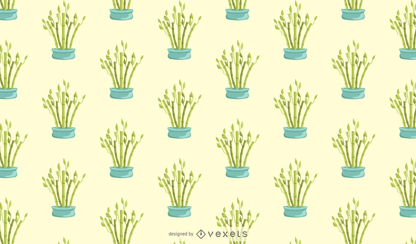 Diseño de patrón de bambú de la suerte