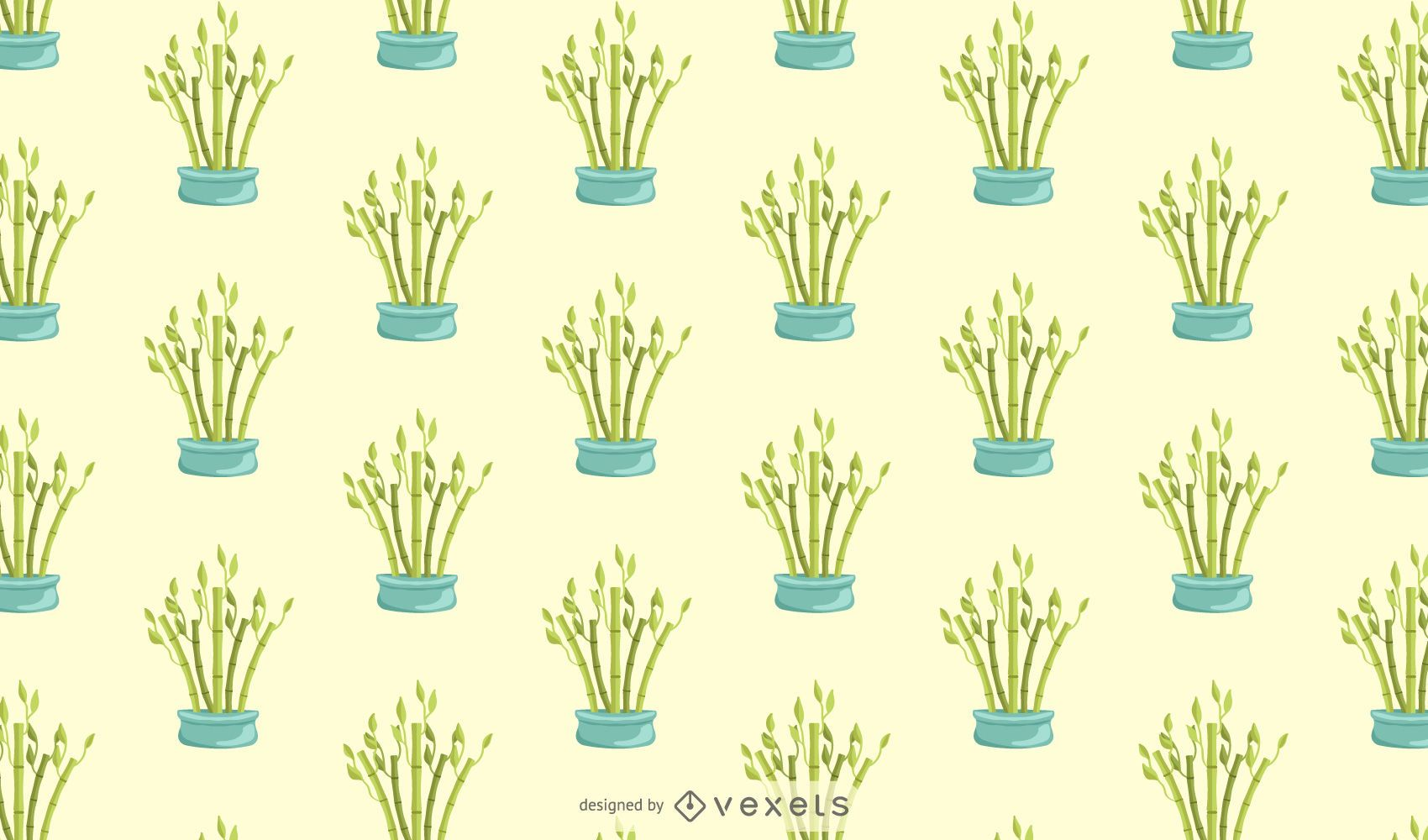 Lucky bamboo pattern design