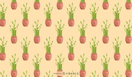 Bamboo lucky houseplant pattern design