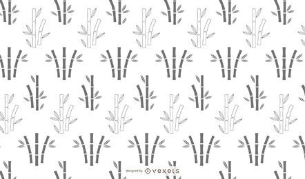 Bamboo silhouette pattern design