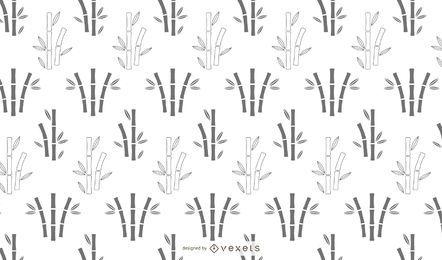 Desenho de padrão de silhueta de bambu