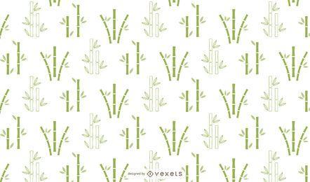 Diseño de patrón minimalista de bambú