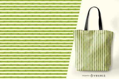 Diseño de patrón de rayas de bambú