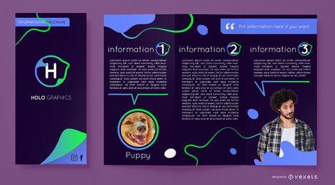 Modelo de brochura - fluxo gradiente abstrato