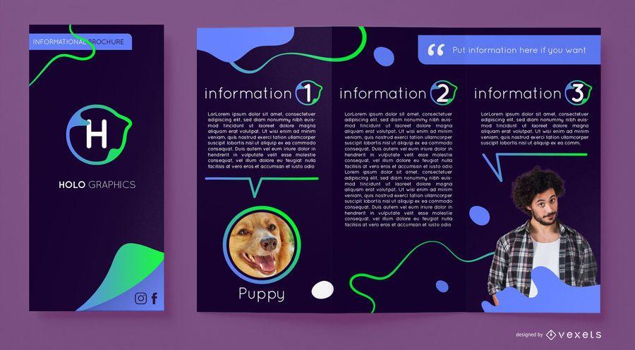 Abstract gradient flow brochure template