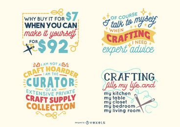 Crafting lettering pack