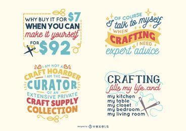 Paquete de letras artesanales