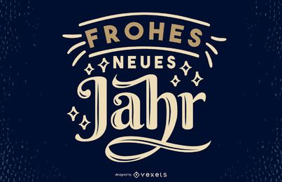Design de letras de citação alemão de ano novo