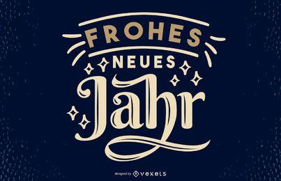 Design de letras de citações alemãs de ano novo