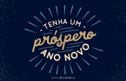 Diseño de cotización portuguesa de año nuevo