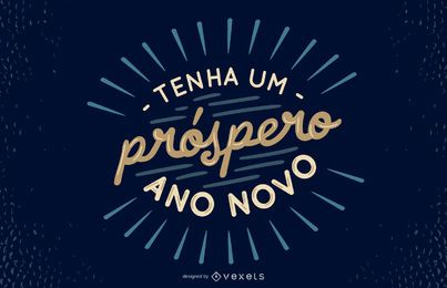 Neujahr portugiesisches Zitat Design