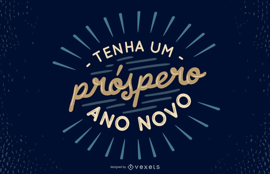 New Year Portuguese Quote Design