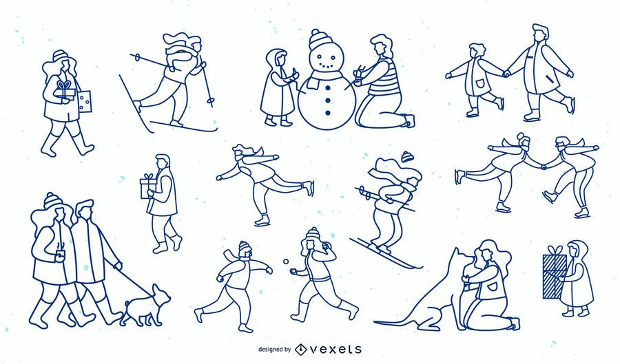 Coleção Winter People Simple Stroke Design