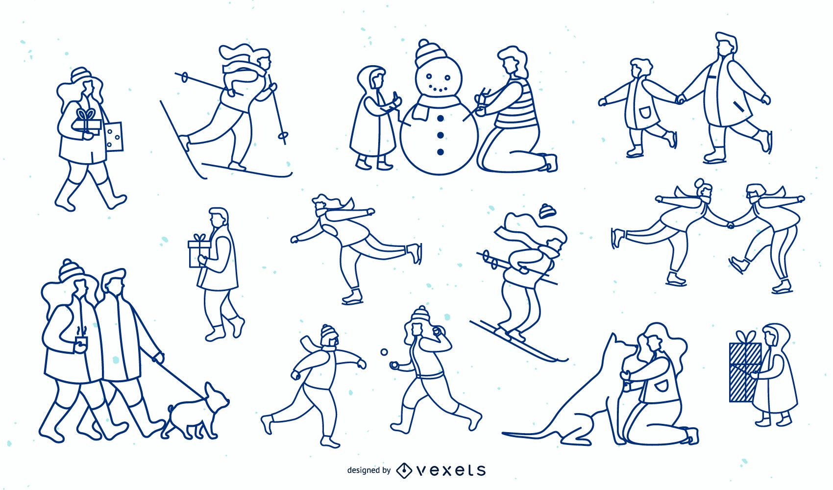Winter People Simple Stroke Design Collection