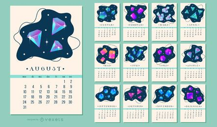 German 2020 Crystal Calendar Design