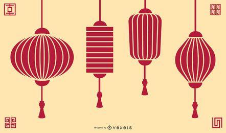 Lanterna Vermelha Chinesa