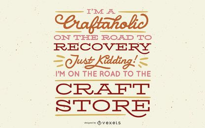Crafting funny lettering design