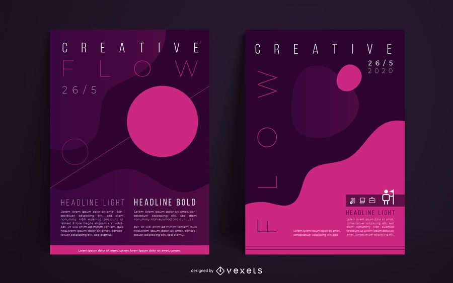 Creative Abstract Poster Set
