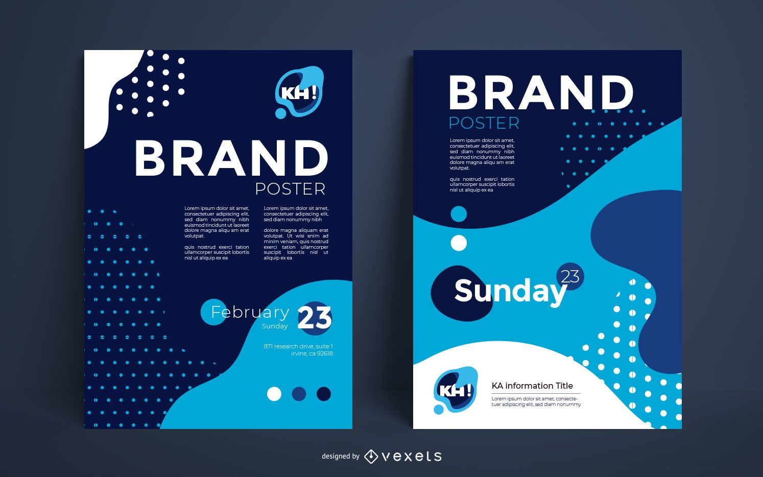 Diseño de carteles de marketing creativo