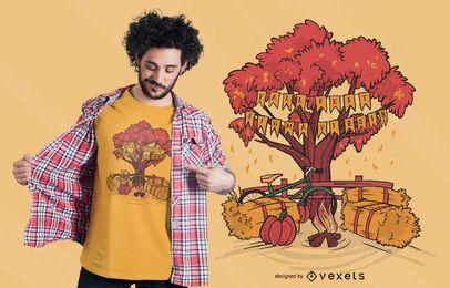 Diseño de camiseta de otoño Sigma Pi Fraternity