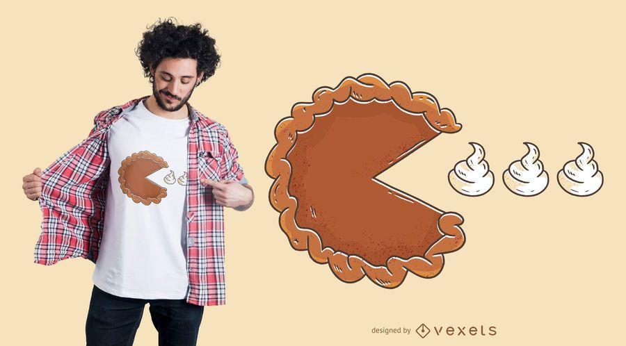 Diseño de camiseta Pie Eating Cream