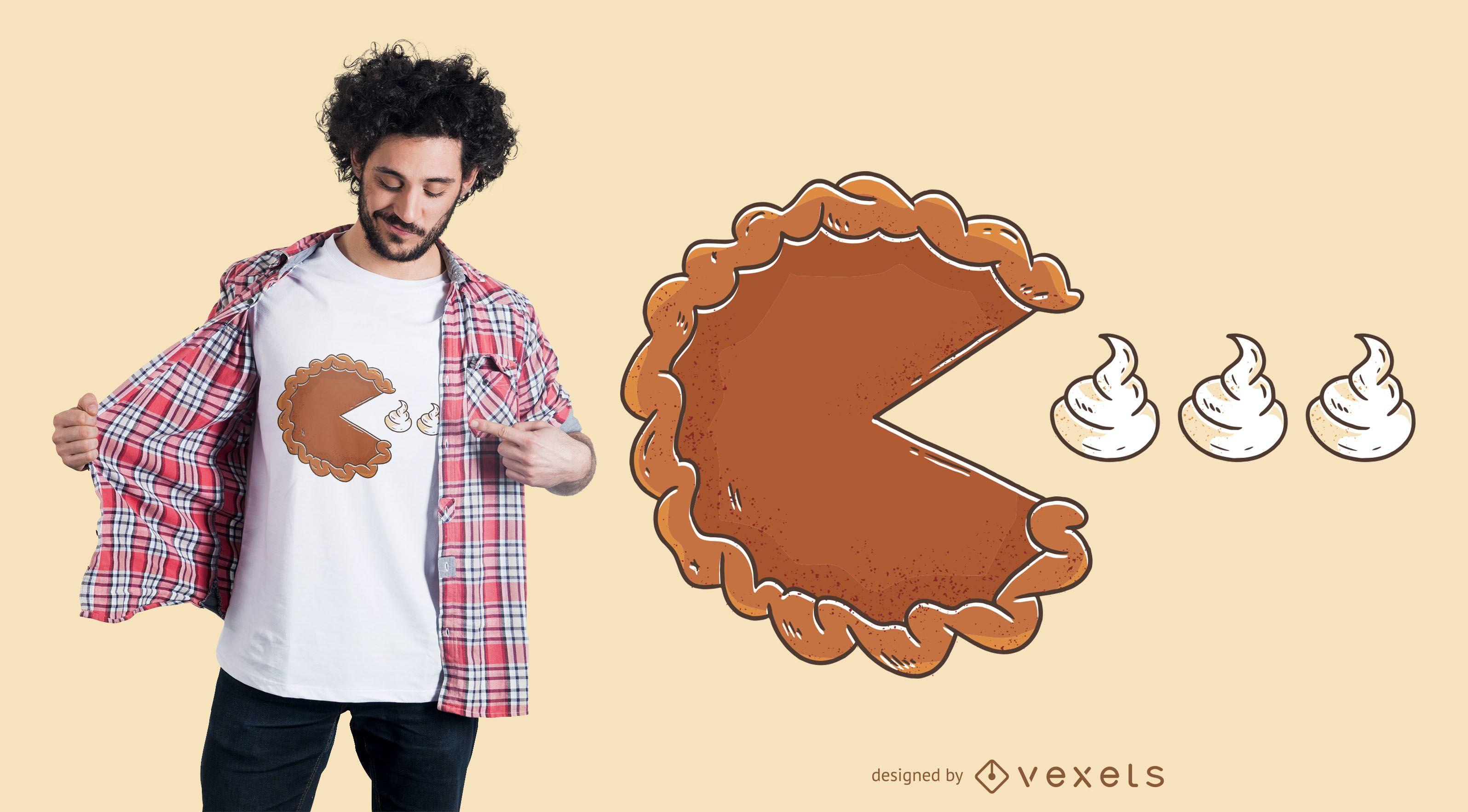 Dise?o de camiseta Pie Eating Cream