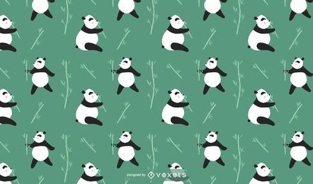 Cute Panda Pattern Design