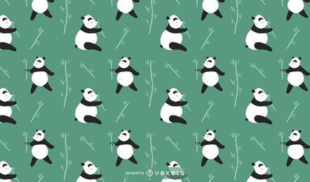 Niedlicher Panda-Muster-Entwurf