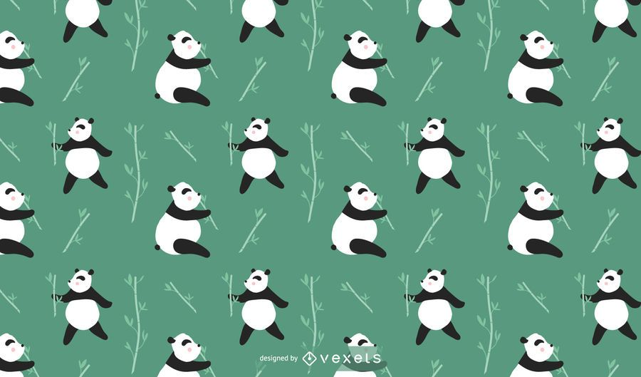 Cute Panda Pattern Design