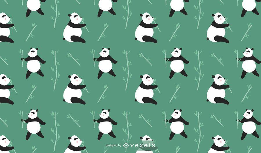 Lindo diseño de patrón de panda