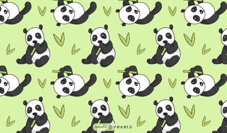 Design bonito do padrão do urso panda