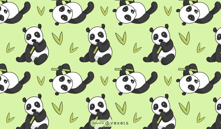 Cute Panda Bear Pattern Design