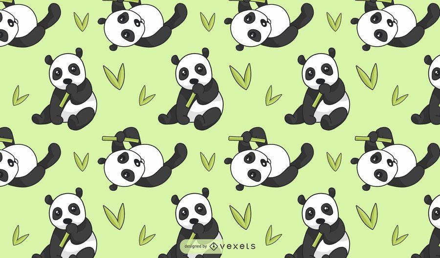 Lindo diseño de patrón de oso panda