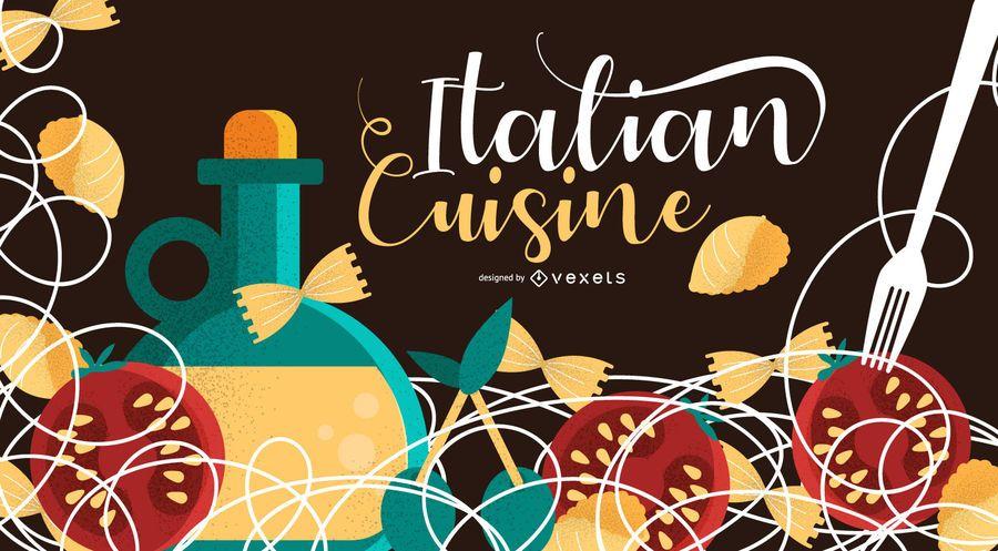 Italian Cuisine Background Design