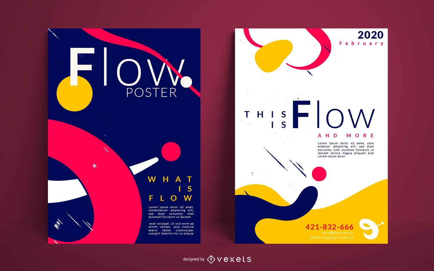 Creative Flow Poster Design Set
