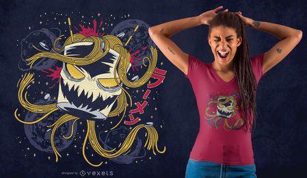 Diseño de camiseta espacial ramen
