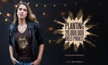 Pflanzen des Zitatt-shirt Entwurfs