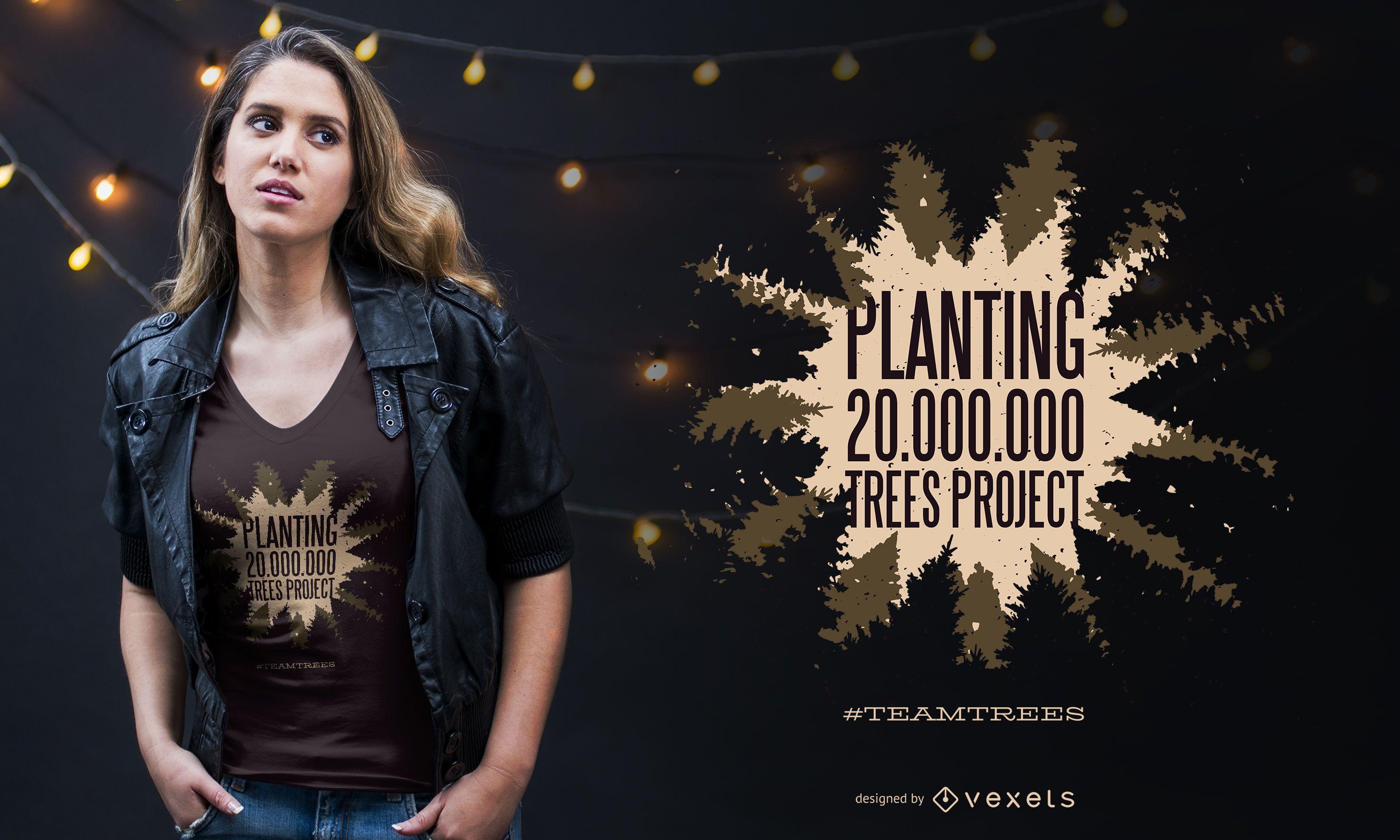 Planting quote t-shirt design