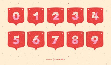 Valentinstag Garland Alphabet Number Set