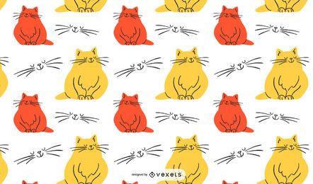 Bunter Cat Illustration Pattern Design