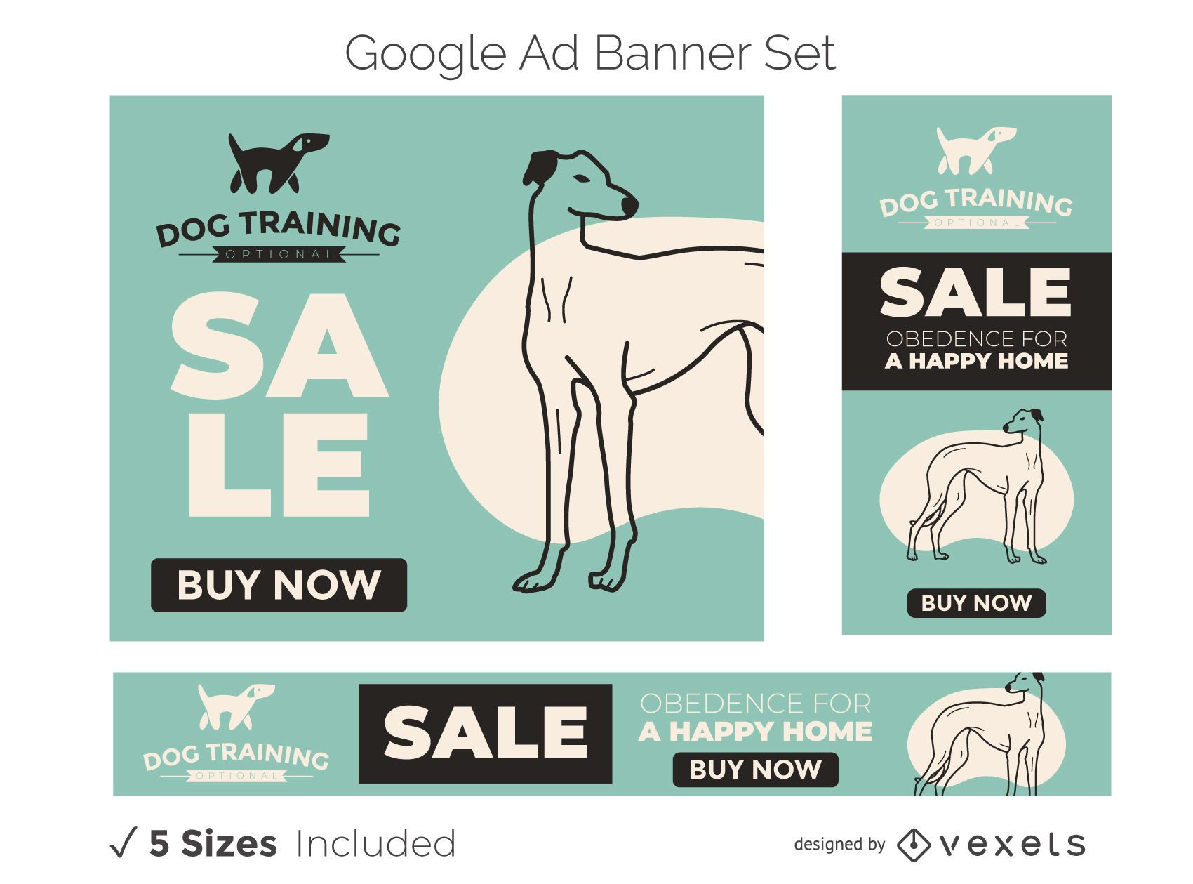 Dog Training Google Ads Banner Set