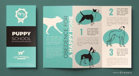 Plantilla de folleto de entrenamiento de perros