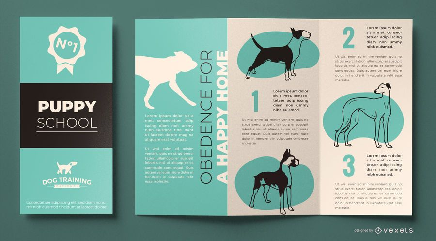 Dog training brochure template