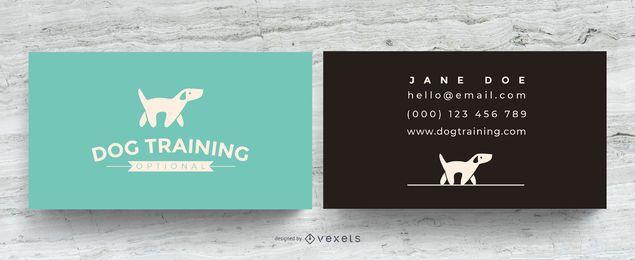 Cartão de visita de treinamento do cão