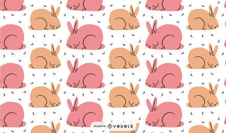 Pink bunnies pattern design