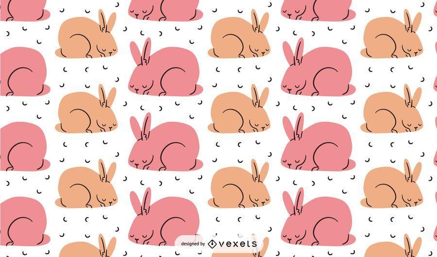 Pink bunnies pattern design