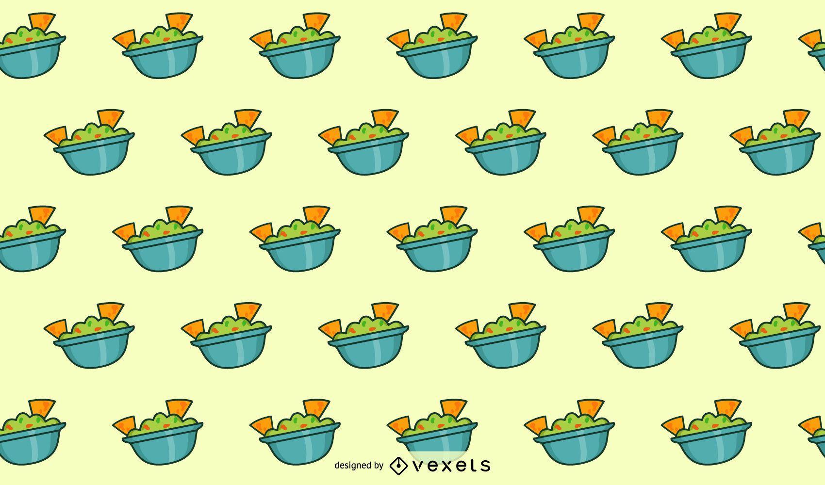 Diseño de patrón de guacamole