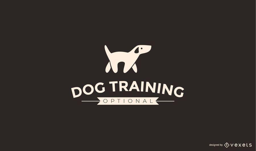 Modelo de logotipo de treinamento do cão